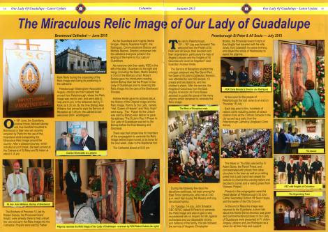 Article from Columba Magazine, Autumn 2015. Published by Knights of St Columba