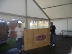 Petrit and Michael bring the Miraculous Relic Image into the marquee