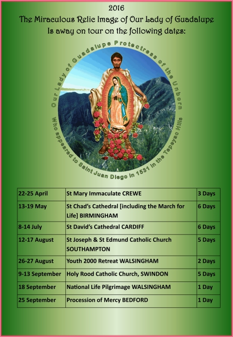 Image of poster for 2016 National Pilgrimage Tour