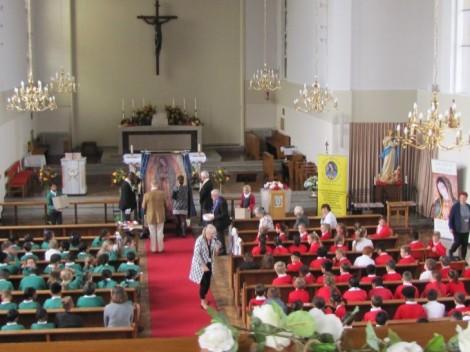 Headteachers from both schools led the veneration