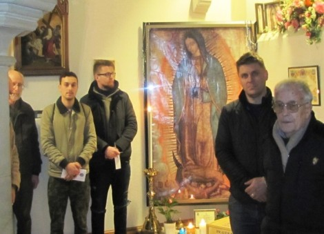 LMS Members with the Miraculous Relic Image