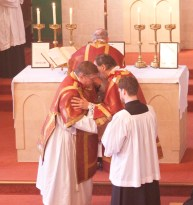 Caversham High Mass Kiss of Peace